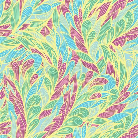 pattern soft pastel seamless floral vintage soft pastel doodle pattern with