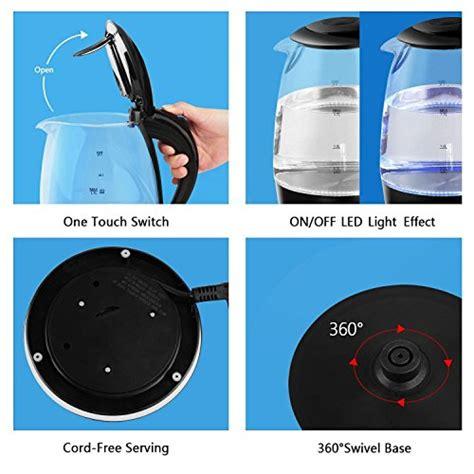 aigostar adam 30gom glas wasserkocher mit led beleuchtung 2200 watt 1 7 liter