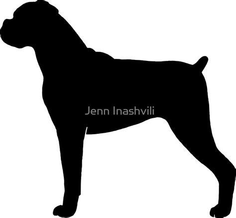 """Boxer Dog Silhouette(s)"" Stickers by Jenn Inashvili   Redbubble"