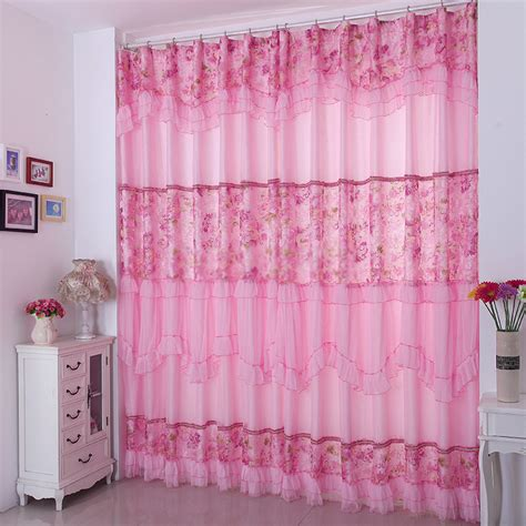 sweet pink lace baby nursery curtains