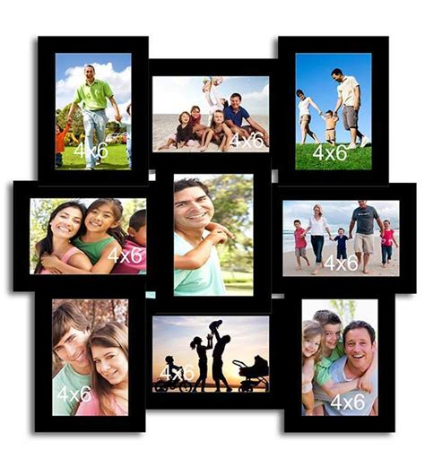 collage sets page2 collage black cotton photo frame by