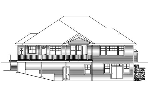 view lot house plans house plans rear view lot home design and style