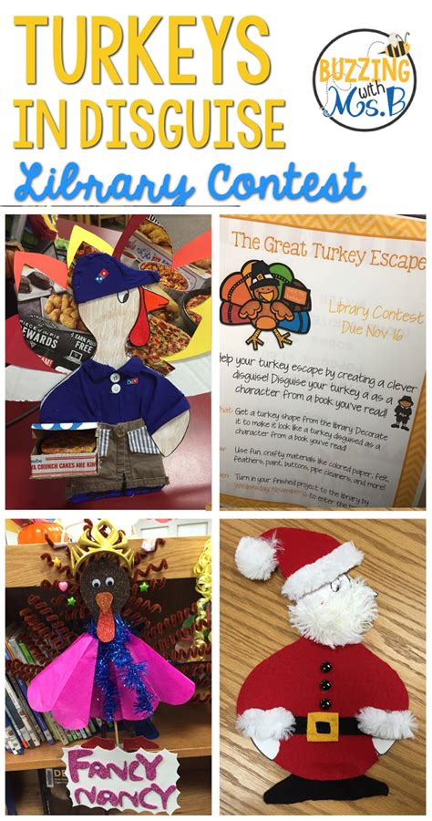 buzzing  ms  turkeys  disguise library contest