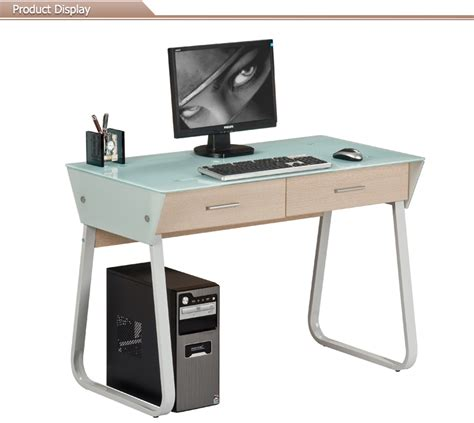 Steel Computer Desk Stainless Steel Floor Sitting Glass Office Computer Desk Buy Floor Sitting Computer Desk Glass