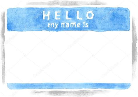 Name Tag Background Design | name tag sticker hello my name is on white background