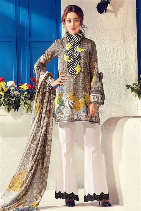 dress design lawn pakistan cross stitch summer lawn dresses 2017