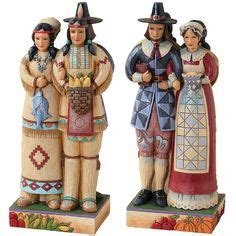 resin pilgrim and indians pilgrims and americans americans and pilgrims jpg thanksgiving from both sides