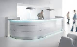 Rounded Reception Desk Curved Reception Desk With Illumination Valde 3212mm Wide Reality