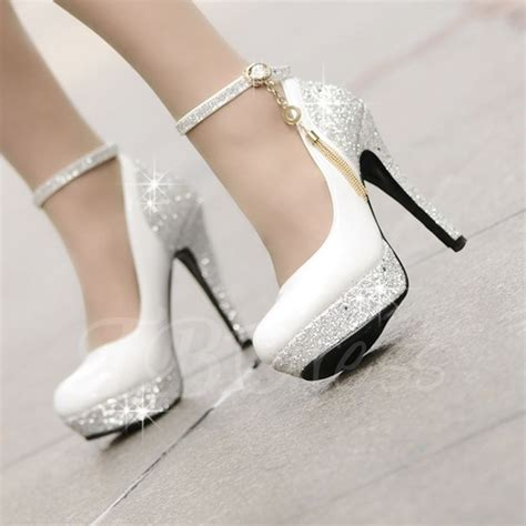 high heels for wedding high heels platform tassel wihte wedding shoes small one