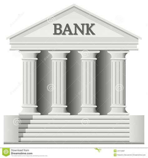 bank de bank building icon royalty free stock photography image