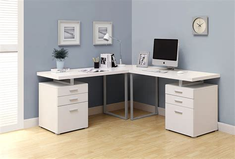 White L Shaped Corner Desk Computer Desk For Office Or White L Shaped Computer Desk