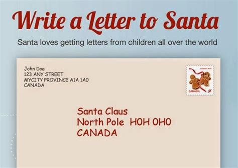 letter to santa template canada post canada post letter from santa sle letter template