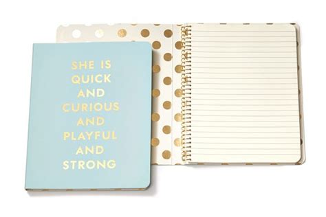 Curious Perfume Promotional Notebook - kate spade ny spiral notebook curious grand