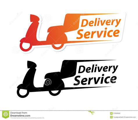 delivery service sign stock vector image of commerce