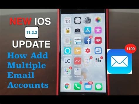 iphone how to add email accounts 2018 with the new ios update 11 2 2