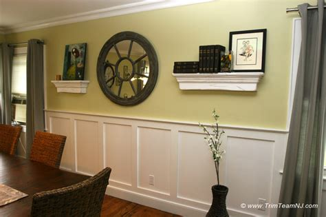 dining room trim ideas wainscot and picture frames contemporary dining room