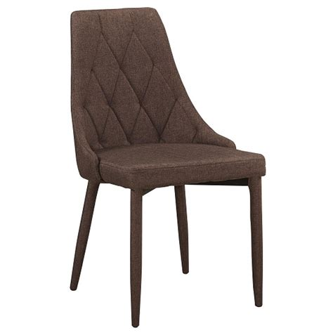 wilkinson modern dining chair in brown fabric 26808