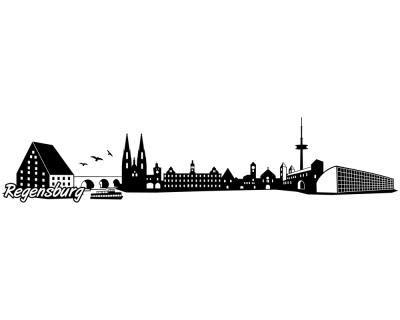 Autoaufkleber Regensburg by Regensburg Skyline Aufkleber Sticker Autoaufkleber City