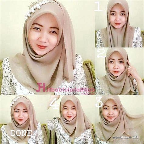 tutorial hijab paris segi empat simple  modis