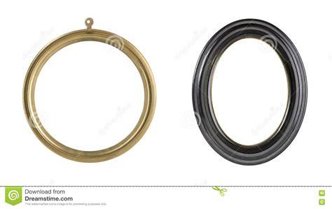 cornici rotonde due cornici rotonde fotografia stock immagine di