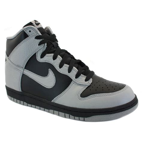 mens nike high top sneakers nike dunk high leather mens high top trainers black grey