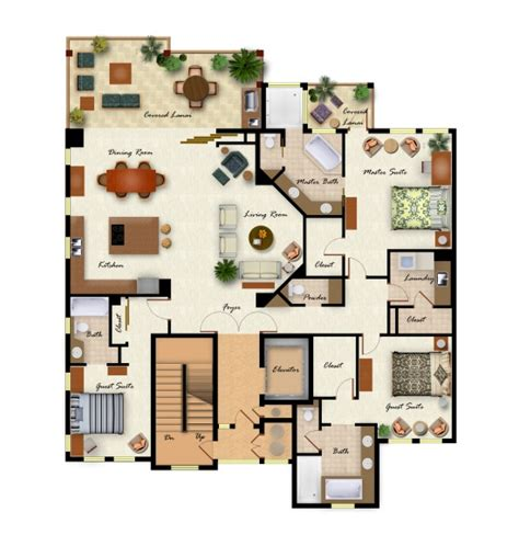 layout design of villa kolea floor plans