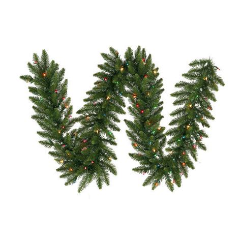 vickerman a861125led 9 ft christmas garland camdon fir