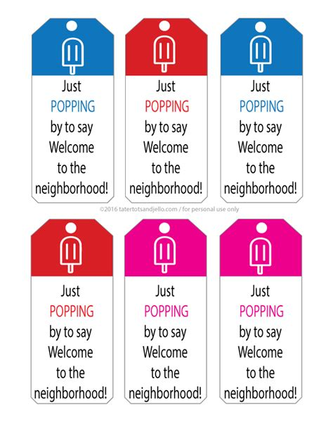 printable gift tags for neighbors popsicle neighbor free printable gift tags and gift ideas