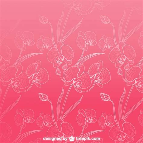 orchid pattern vector orchids background pattern vector free download