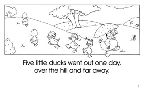 five little ducks coloring pages chicken and duck coloring pages surfnetkids five little