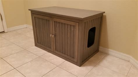 tall litter box cabinet large no legs odor free hand made in usa wood cat