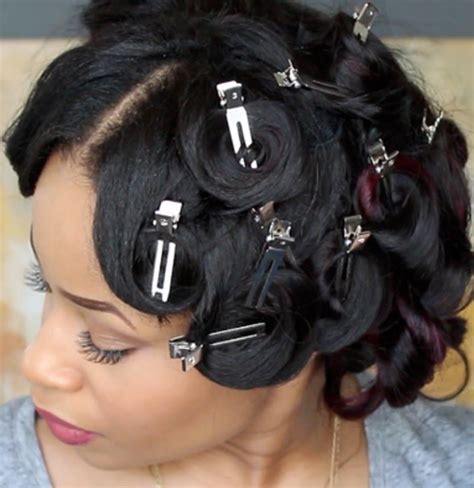 how to do pin curls on black women s hair how to do pin curls on american hair finger waves and