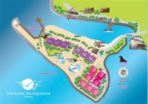 aquaria resort map site plan of the royal sea aquarium resort in curacao