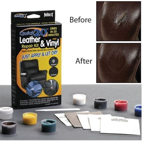 couch repair kit restore it quick no heat leather or vinyl repair kit