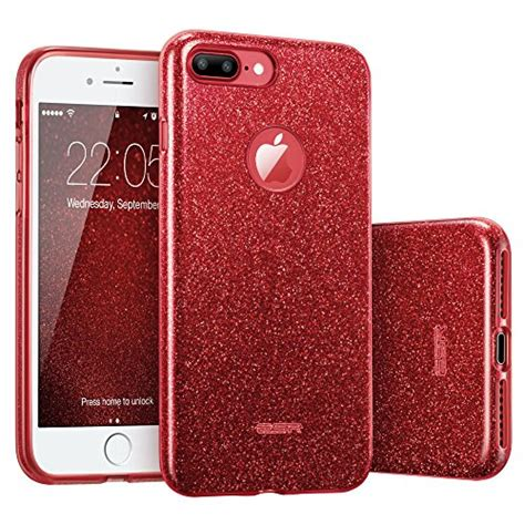 iphone 7 plus esr glitter sparkle bling with three layer structure slim fit 4894240045008