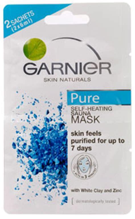Masker Garnier White garnier skin naturals self heating sauna mask