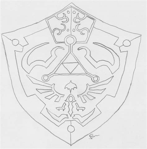 Hylian Shield Outline by Vector Template 187 Shield Vector Free Vectors Graphics And Templates