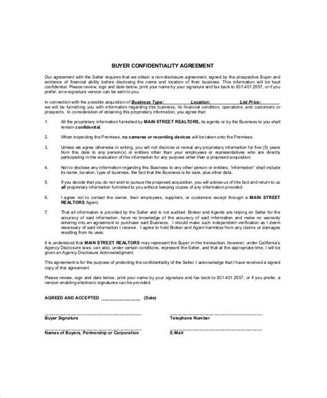 property partnership agreement template 9 real estate confidentiality agreement templates free