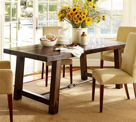 Rustic Mahogany Dining Table This Stain Color For Table Benchwright Fixed Dining