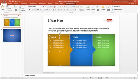 Free 3 Year Strategic Plan Powerpoint Template Free Powerpoint Templates Slidehunter Com Three Year Plan Template