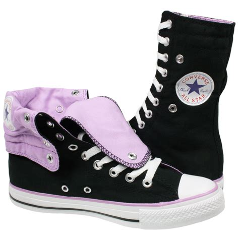 converse shoes for knee high converse all chuck 121983 knee hi black canvas