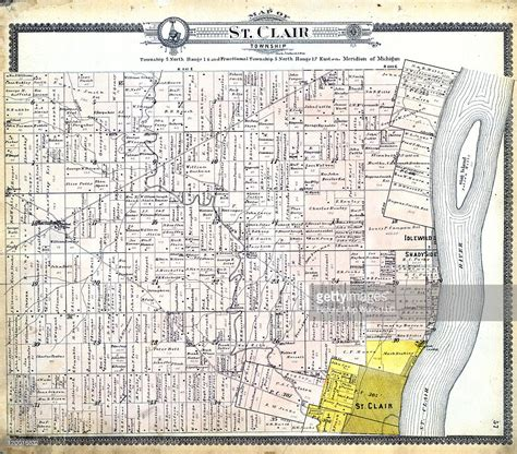St Clair County Michigan Records Michigan 1897 St Clair Township St Clair County Stock Illustration Getty Images