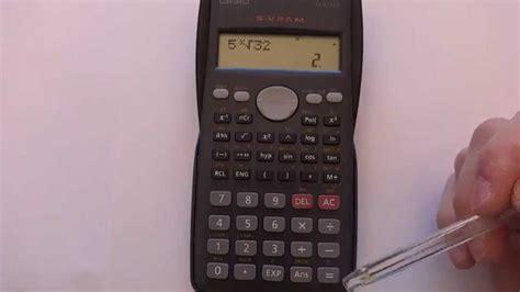 calculador de raices cuadradas 191 c 243 mo usar la calculadora para calcular ra 237 ces youtube