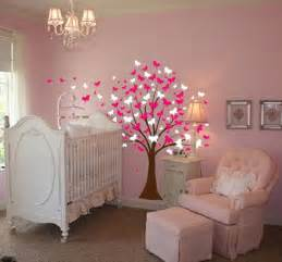 baby nursery tree wall decal sticker teddy bear girl and name decals flowers cherry