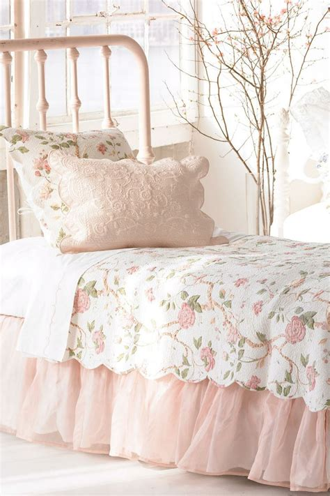 Pink Shabby Chic Bedding by Ceylon Pink Quilt Vintage Living