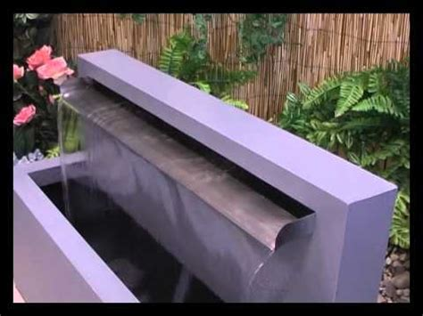 blade fountain water feature youtube