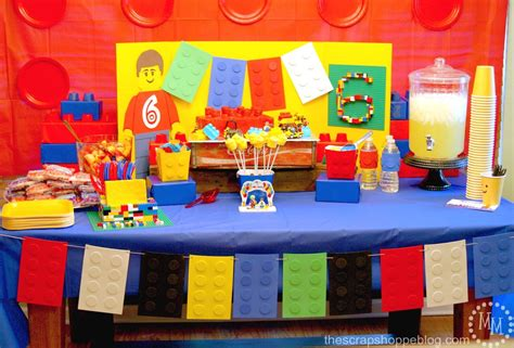 Lego City Wall Stickers lego birthday party the scrap shoppe