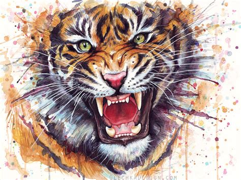 tiger paint watercolor tiger related keywords suggestions