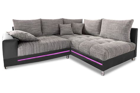 ecksofa tobi ecksofa xl tobi mit led grau sofas zum halben preis