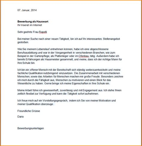 Anschreiben Bewerbung Praktikum Zeitraum Hausmeister Mw In Dietmannsried Kostenloses Deckblatt Muster Und Vorlage Fr Hausmeister Im